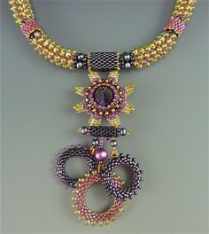 Dragon Claw Necklace Kit, jonquil & purple - Laura McCabe