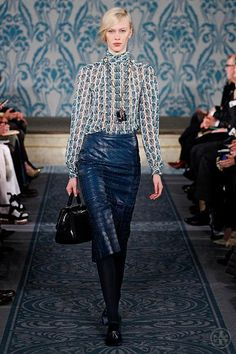A look from #ToryBurch's Fall 2013 Collection. #FashionWeek #NYFW