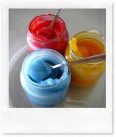 Recette : PEINTURE A DOIGT comestible maison Everything And Nothing, Baby Love, Montessori, Icing, About Me Blog, Xmas, Cool Stuff, Desserts, Diy