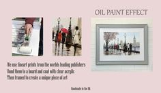 Exclusively from us! Oil Paint Effect, Art Day, Art Pieces, Photo Wall, Fine Art, Wall Art, World, Frame, Unique