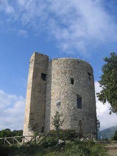 Bastille/Bastiglia tower part of the Castello di Arechi complex, Salerno, Italy