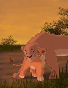 Kiara and her mother, Nala.
