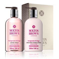 Molton Brown UK Pomegranate & Ginger Hand Wash & Hand Lotion Gift Set