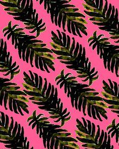 Palm Leaves. #pattern #illustration