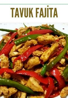 Chicken Fajitas - Yummy Recipes - # How to make Chicken Fajitas Recipe? Illustrated explanation of Chicken Fajita Recipe in the book of people and photographs of those who try here. Author: Nurhayat's Cuisine Yummy Recipes, Meat Recipes, Crockpot Recipes, Dinner Recipes, Yummy Food, Crockpot Meat, Dinner Crockpot, Pizza Recipes, Chicken Fajita Recipe