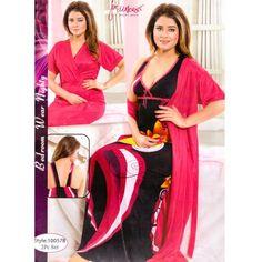 Fashionable Two Part Nighty-10057 B Night Dress Online, Salwar Kameez, Nightwear, Sari, Womens Fashion, How To Wear, Dresses, Gowns, Saree