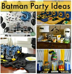Batman Party Ideas Click here to see the full feature: http://smartpartyplanning.com/batman-party-ideas/ #Batman #BoysParties