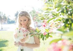 Such an amazing bridal photo. Gorgeous bride. Photo by Kristen Marie Photography.