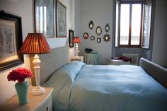 The double bedroom in San Giovanni Apartment www.florencewithaview.com