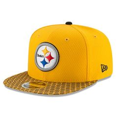 8a09f41ca9b Men s New Era Gold Pittsburgh Steelers 2017 Sideline Official 9FIFTY  Snapback Hat