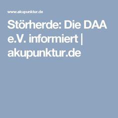Störherde: Die DAA e.V. informiert | akupunktur.de