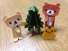 ハンドメイド:折り紙でリラックマ