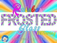 Rainbow Frosting, Glitter Letters, Alphabet And Numbers, Purple Glitter, Craft Activities, Frosted Glass, Etsy Store, Banner, Clip Art