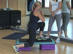 4-minute workout using a stepper at the gym or in your own home that will work your core,