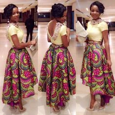 African Clothing African Midi Skirt African by DiagossaCouture African Inspired Fashion, African Print Fashion, Africa Fashion, Fashion Prints, African Print Dresses, African Fashion Dresses, African Dress, African Prints, Ghanaian Fashion