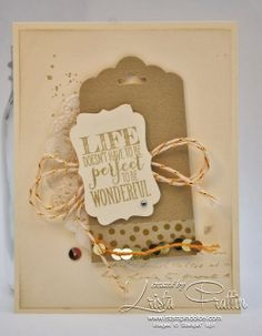 Stampin' Dolce: Stampin' Up! 2014 Occasions Catalogue swap card. Gold is hot!