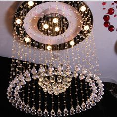 Incredibly Bright: Crystal Lamp Circle Crystal Pendant Light ~ Chandeliers Inspiration