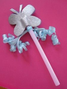 Butterfly Fairy Wand - easy craft to use at a fairy party?