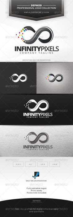 Infinity Pixels Logo — Transparent PNG #pixels #identity • Available here → https://graphicriver.net/item/infinity-pixels-logo/6858777?ref=pxcr