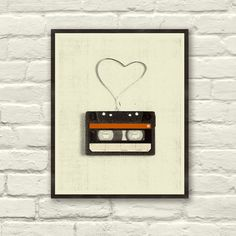 I heart mixed tapes forever. (I miss them. I really do.) :: Cassette L'amour Art Print at dot and bo.