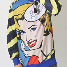 [L123] Marilyn Monroe Printing Long Sleeves MTM T-shirts