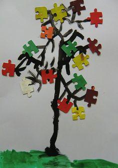 Podzimní puzzlový strom Nintendo 64, Puzzle, Logos, Art, Art Background, Puzzles, Logo, Kunst, Performing Arts