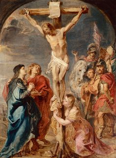 Peter Paul Rubens - Christ on the Cross Rubens was a Flemish Baroque painter, . - Peter Paul Rubens – Christ on the Cross Rubens was a Flemish Baroque painter, and a proponent o - Peter Paul Rubens, Cross Pictures, Jesus Pictures, Catholic Art, Religious Art, Catholic Churches, Rubens Paintings, Oil Paintings, Baroque Art