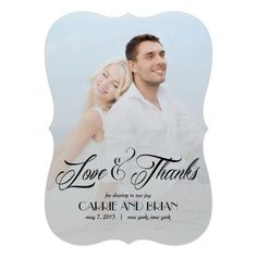 Shop Now and Forever Wedding Thank You Card created by berryberrysweet. Couples Shower Invitations, Photo Wedding Invitations, Engagement Party Invitations, Beautiful Wedding Invitations, Custom Invitations, Invites, Simple Wedding Cards, Wedding Thank You Cards, Bridal Shower Cards