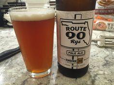 Route 90 Rye pale ale engine brewing. Weird taste balance. 2 stars