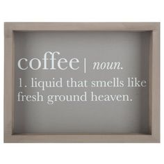 Coffee Definition Wall Art