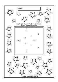 Vianoce - spájame bodky podľa čísel - hviezda