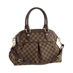5fa62038e7f9 Louis Vuitton Trevi PM Damier Ebene Canvas Top Handle Gorgeous pleats in  Damier canvas mark out the Trevi PM as an ideal feminine bag.