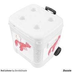 Red Lobster Cooler  Available on many more products! Use the search bar on my Zazzle products page, type in the name of the design to see all products.  #lobster #red #illustration #gear #life #lifestyle #cool #chic #zazzle #buy #sale #ocean #nature #planet #earth #creature #sea #crawl #claw #fish #swim #swimming #water #event #planning #catering #cookout #cook #barbecue #grill #grilling #beer #soda #can #refrigerate