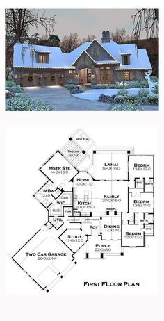 French Country House Plan 75134 Total Living Area 2482 sq ft 4 bedrooms and 35 bathrooms The Plan, How To Plan, Dream House Plans, House Floor Plans, My Dream Home, Dream Houses, Cottage House Plans, Garden Cottage, Retirement House Plans