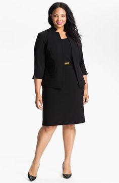 Eliza J Belted Sheath Dress & Jacket (Plus) available at #Nordstrom