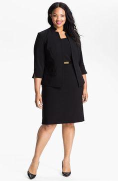 Eliza J Belted Sheath Dress & Jacket (Plus) available at #Nordstrom