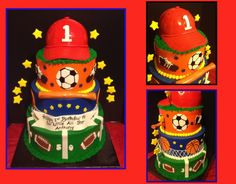 All Star 1st Birthday Cake - What boy would not love this????>