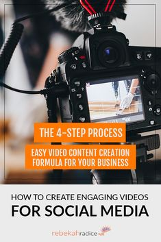 Does your video content captivate & inspire your social media audience? Learn the process to create engaging videos for social media. Social Media Quotes, Social Media Tips, Photography Marketing, Photography Studios, Photography Backdrops, Social Media Marketing Business, Marketing Articles, Business Video, Social Media Design