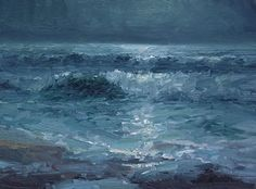 "Midnight Surf by Jonathan McPhillips Oil ~ 9"" x 12"""
