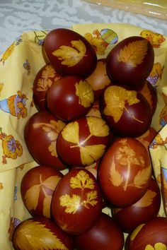 Traditional way of Coloring Eggs