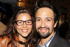 Photo of In the Heights composer Lin Manuel Miranda and his wife Vanessa enjoy a date night on Broadway. Vanessa Nadal, Nights On Broadway, Lin Manuel Miranda, Opening Night, Badass Women, Musical Theatre, In The Heights, Musicals, Actors