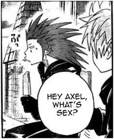 Kingdom Hearts manga - Roxas and Axel ( OOKAY YEAH, CAN WE TALK ABOUT SOMETHING ELSE? LOL! )