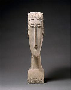 """Woman's Head"" by Amedeo Modigliani, 1912; limestone"
