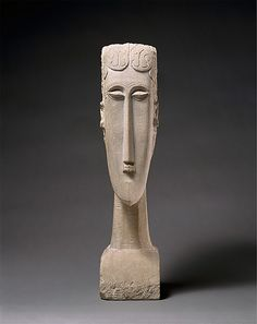 """Woman's Head"" by Amedeo Modigliani, 1912; limestone"