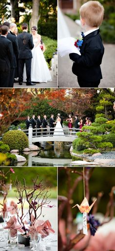 California Wedding in a Japanese Garden,  Have you thought about the Botanical Gardens in Green Bay?  Or some other Public garden close to you?