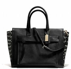 BLEECKER RILEY CARRYALL IN TWO TONE PYTHON EMBOSSED LEATHER