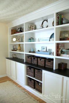 DIY Bookcase Tutorial - FULL TUTORIAL - artsychicksrule.com #DIYBookcase #Bookcase #diybuiltin