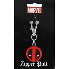 Licenses Products Marvel Extreme Deadpool Logo Rubber Zipper Pull Figure * Find out more about the great product at the image link.