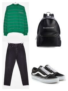 """""""School outfit"""" by daria-maria-17 on Polyvore featuring Vans and Balenciaga"""