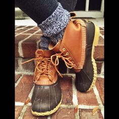 I WANT THE BOOTS. THIS STYLE 8(1/2) and I love the legwarmers which can be found at target http://www.llbean.com/llb/shop/31184?feat=womens bean boots-SR0&page=women-s-bean-boots-by-l-l-bean-reg-6-quot&attrValue_0=Tan/Brown&productId=198121 http://www.target.com/p/merona-women-s-3-pack-preppy-socks-assorted-colors-patterns-one-size-fits-most/-/A-14639433#prodSlot=large_1_7